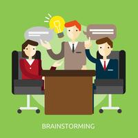 Brainstormen Conceptuele afbeelding ontwerp vector