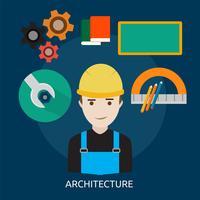 Architectuur Conceptuele afbeelding ontwerp