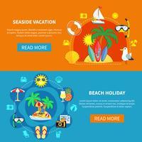 Vakantie bij zee Banners vector