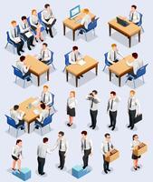 Isometrische werkgelegenheid interview collectie vector