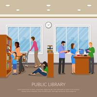 IPublic Library llustration vector