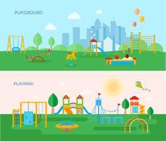 Speeltuin park banners instellen