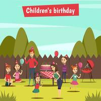 kinderen bithday feestje vector