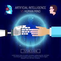 Kunstmatige intelligentie achtergrondconcept