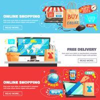 verzameling e-commerce banners vector