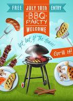 Barbecue partij poster