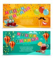 Festa Junina horizontale banners vector