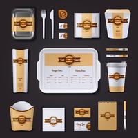 Fastfood Restaurant Zakelijk Ontwerp vector