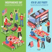 Barbecue banner set van 4 juli