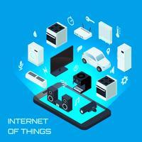 Internet van dingen isometrisch ontwerpconcept vector