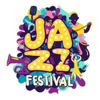 Jazzfestival compositie vector