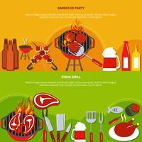 Biefstukgrill op barbecuepartij vector