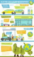 electro auto infographics vector