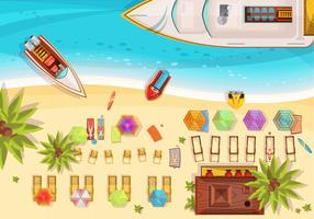 Strandvakantie Bovenaanzicht Illustratie