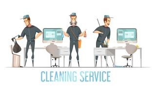 Schoonmaak Service Ontwerp cConcept vector