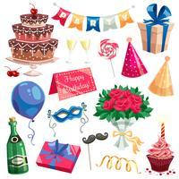 Verjaardagsfeestje set vector