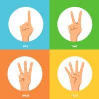 handen 2x2 ontwerpconceptenset