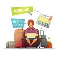 hostel boeking ontwerpconcept