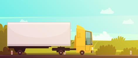Logistiek en levering Cartoon achtergrond