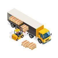 Logistieke isometrische ontwerpsamenstelling