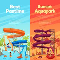 Aquapark verticale banners