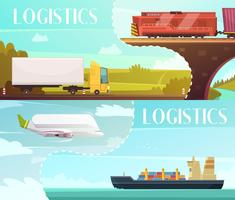 Logistiek Banners Set vector