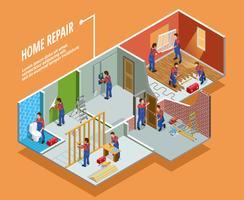 Home Reparatie isometrische sjabloon