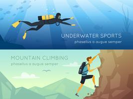 Extreme sporten 2 platte horizontale banners