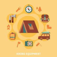 Wandelen uitrusting voor toeristen