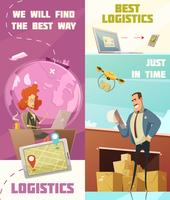 Logistiek verticale Banners Set vector