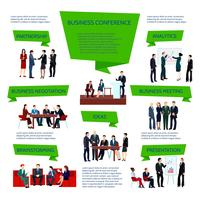 Mensen uit het bedrijfsleven groep Infographics