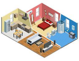 Appartement isometrisch ontwerp vector