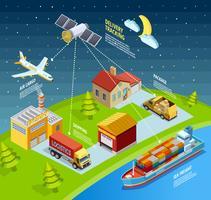 Logistieke netwerksjabloon vector