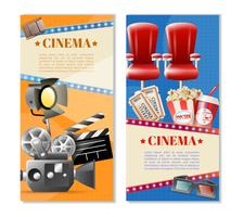 Cinema 2 verticale bannersenset vector