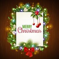 Kerst vakantie frame vector