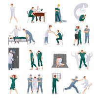 Geestesziekten Icons Set