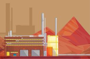 Eco afvalverwijdering industrie vlakke Poster vector