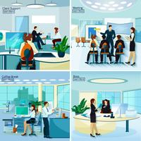 Office People 2x2 Design Concept vector