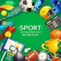 Sport Inventaris vectorillustratie vector