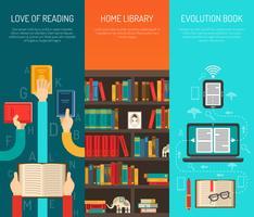 bibliotheek lange handen platte bannes set