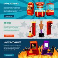 game machine banners instellen vector