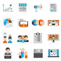Verkiezingen en stemmen Icons Set