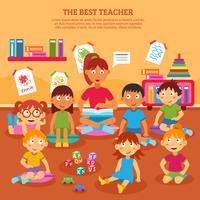 Kinderen leraar Poster vector
