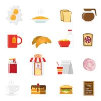 Ontbijt Icons Set vector