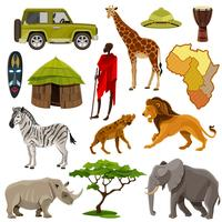 Afrika Icons Set vector