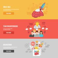 brainstorm-banners instellen vector
