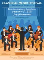 Klassieke muziekfestival Flat Poster