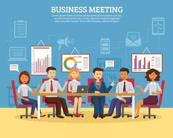 Zakelijke bijeenkomst plat vector