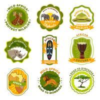 Afrika emblemen Set vector