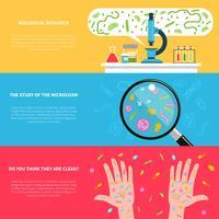 Banners voor microbiologie vector